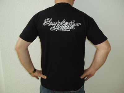 T-Shirt schwarz -Comic-Tracht-
