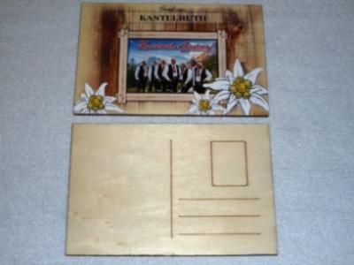 Holz-Postkarte