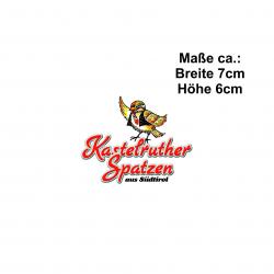 PVC-Aufkleber Schriftzug/Spatz aussen KLEIN